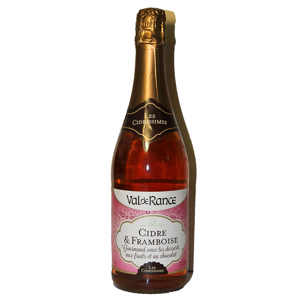 Французский розовый сидр с малиной Cidre rosé Framboise Val de Rance Les Cidrissimes