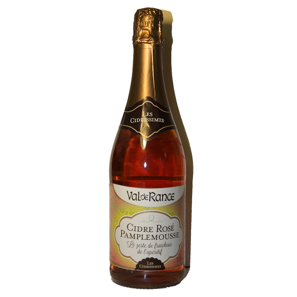 Французский розовый сидр с грейпфрутом Cidre rosé pamplemousse