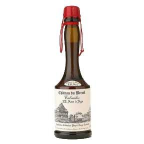 """Кальвадос Chateau Du Breuil """"12 y.o."""" mini 30 ml Шато дю Брей 12 лет мини 30 мл, Франция, купить, доставка по Украине"""