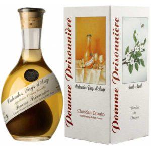 """Кальвадос Christian Drouin, Pomme Prisonniere Pays d'Auge 0,9 gift box / Кристиан Друэн, Пэй д'Ож """"Помм Призонье"""" в карт. уп., Франция,"""